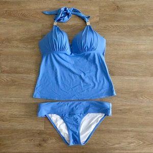 victoria's secret | padded periwinkle blue tankini